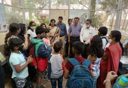 School children visit to Insectarium, NBAIR, Bengaluru
